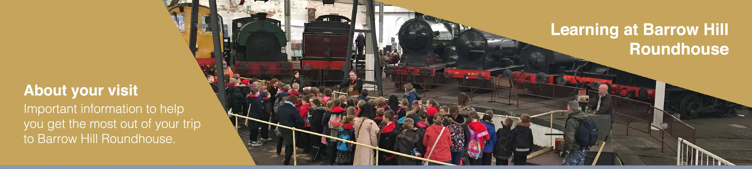 Plan your school visit to Barrow Hill Roundhouse museum in chesterfield, Derbyshire