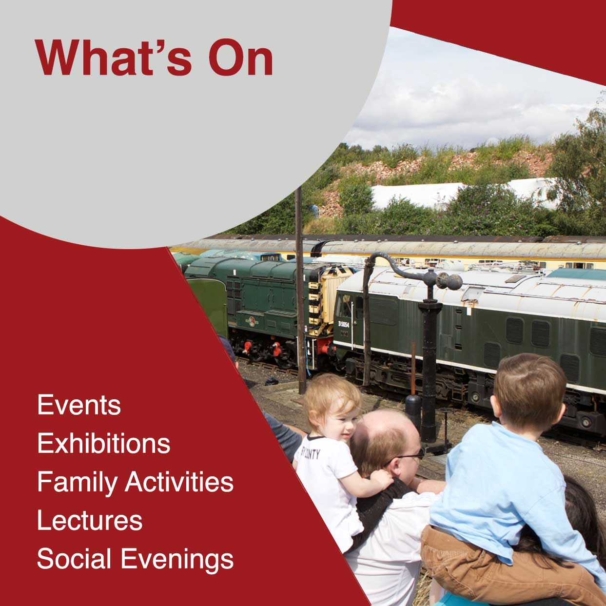 Events, Exhibitions, Family activiies at barrow Hill Roundhouse and Railway Museum in Derbyshire