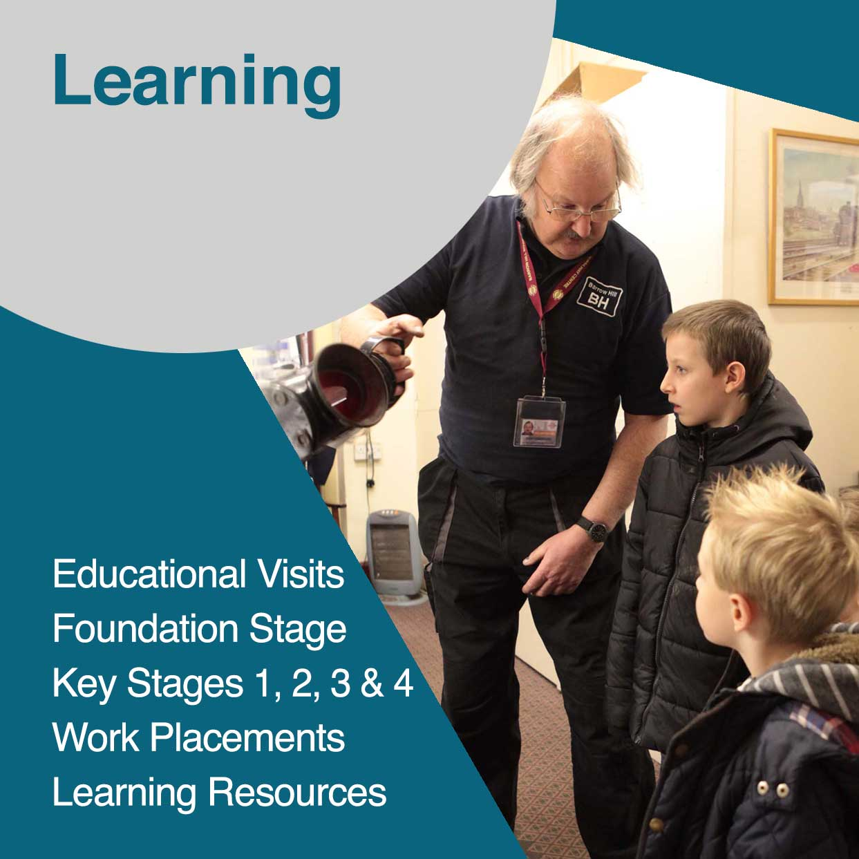 Educational School outings for Key Stages 3 and 4 at Barrow Hill Roundhouse and Railway Museum
